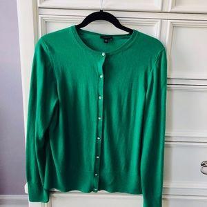 Ann Taylor Green Cardigan Sweater - XL